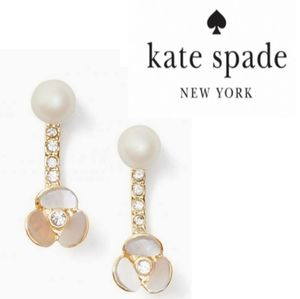 ♠️Kate Spade♠️ Disco Pansy Ear Jacket Earrings